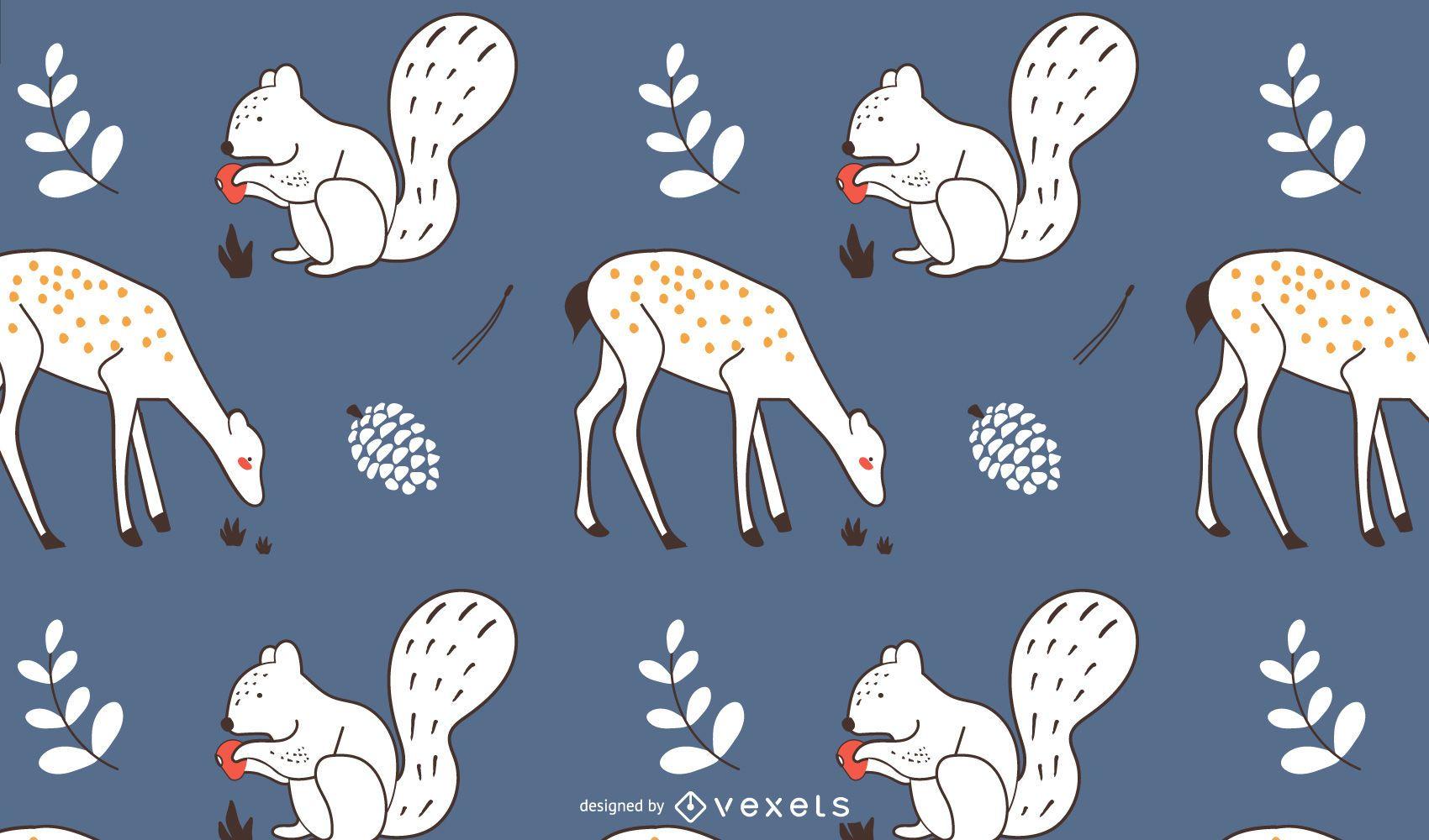 Autumn Animals Pattern