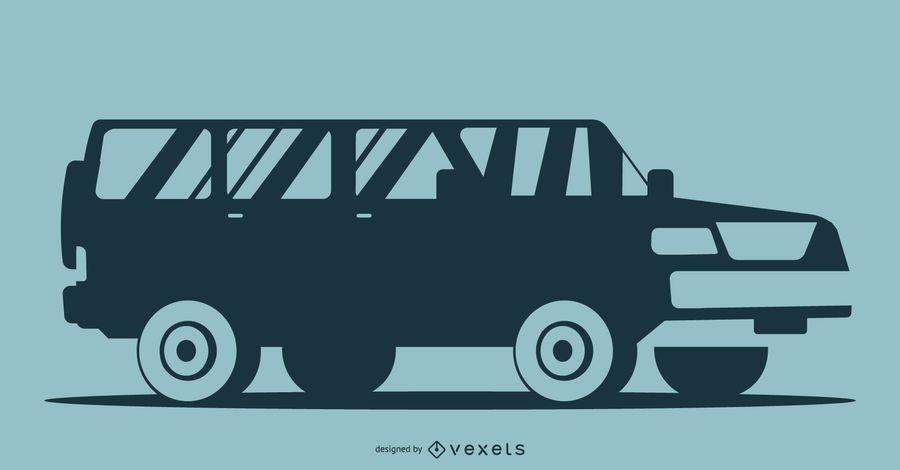 Blaue Auto-Schattenbild-Illustration