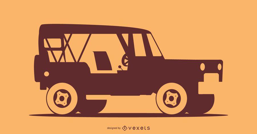 Ilustración de silueta de coche todoterreno