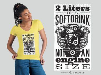 Projeto do t-shirt do refresco