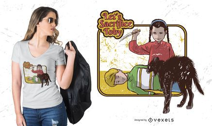Opfer Toby T-Shirt Design