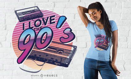 Me encanta el diseño de camiseta de los 90.