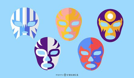 FIGHTERS MASKS ILLUSTRATION