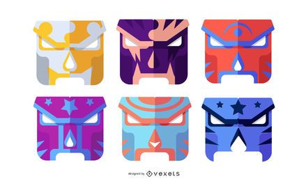 COLORFUL GEOMETRIC MASK DESIGN