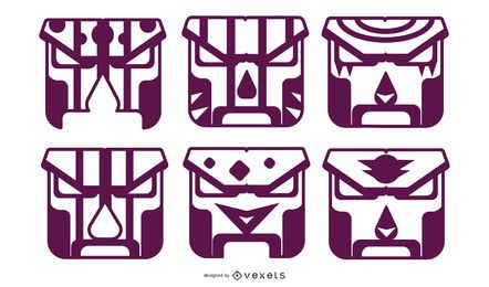 PURPLE GEOMETRIC MASK DESIGN