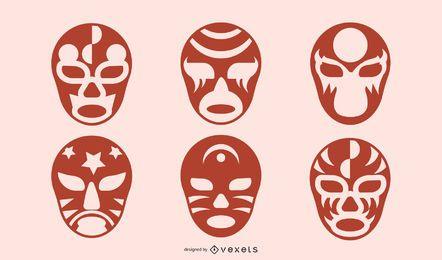 Design de máscara de silhueta