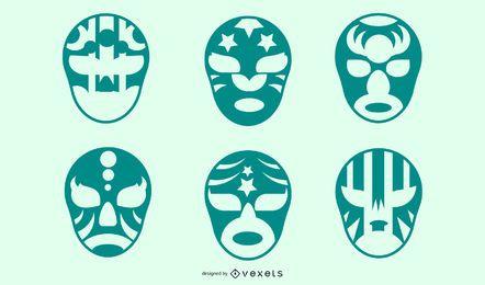 Variantes de máscara de silhueta