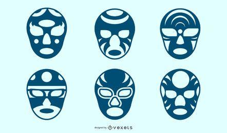 Máscaras faciais de silhueta criativa