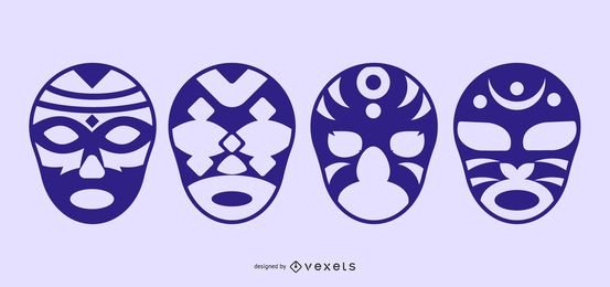 Fancy Silhouette Masks Vectorli