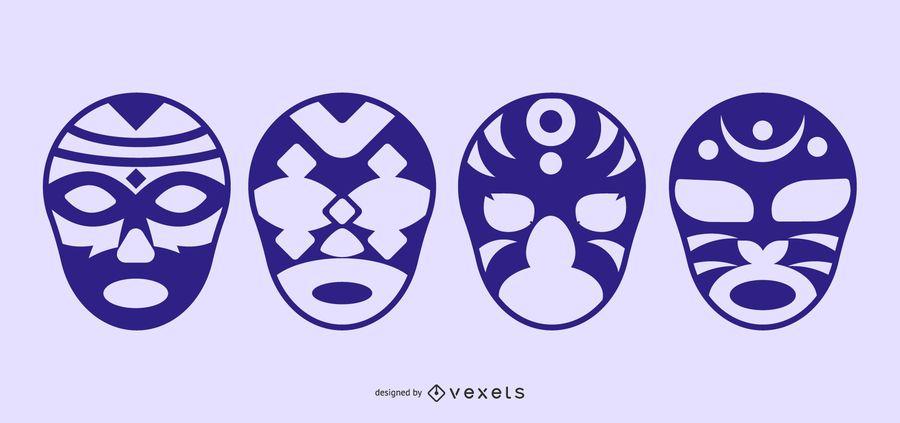 Fancy Silhouette Masks Vectorli