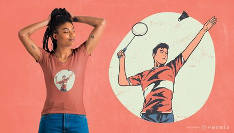 BADMINTON PLAYER T-SHIRT DESIGN