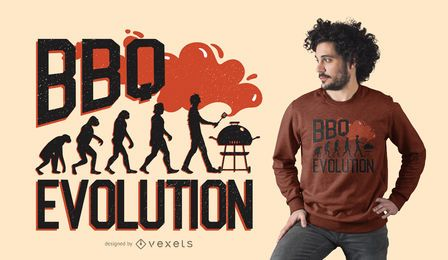 DISEÑO DE CAMISETA BBQ EVOLUTION