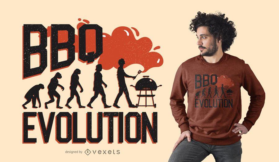 DISEÑO DE CAMISETA BBQ EVOLUTION