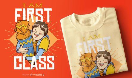 Design de camiseta de primeira classe