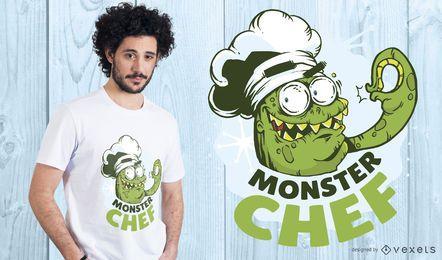 Projeto do t-shirt do cozinheiro chefe do monstro