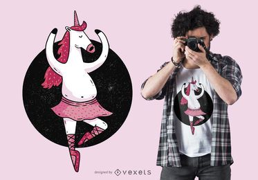 Ballet Unicorn T-Shirt Design