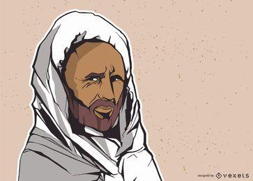 Hombre ilustracion india