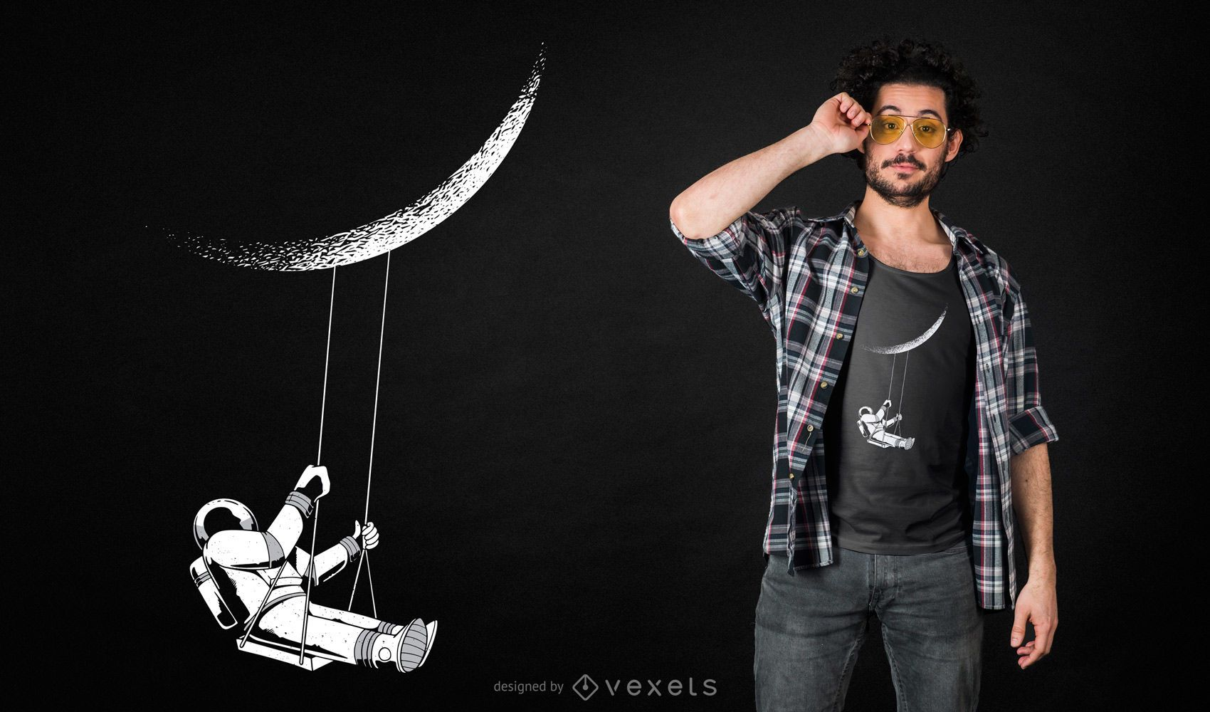 Moon Astronaut T-shirt Design