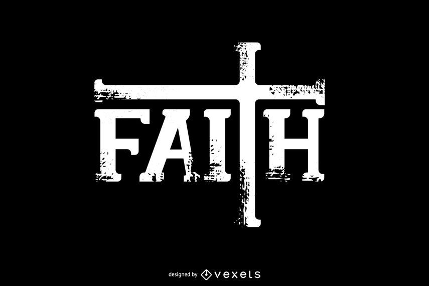 Design de cartão de Typo de fé