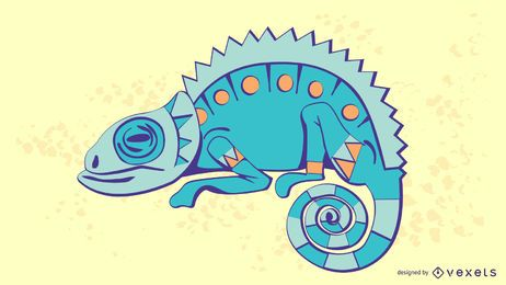 Chameleon Sytlish Illustration