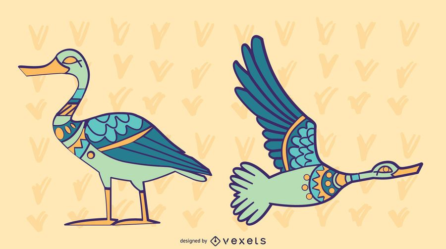 Stylish Colored Duck Set
