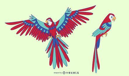 Design elegante papagaio