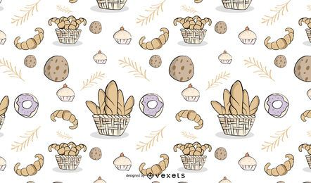 Bakery Tileable Pattern Design