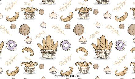Panadería Tileable patrón de diseño