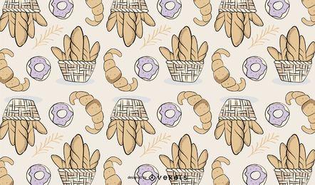 Bäckerei-Brot-Muster-Design