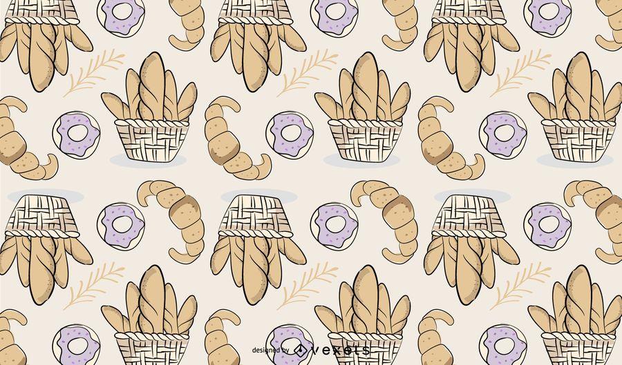 Panadería pan patrón de diseño