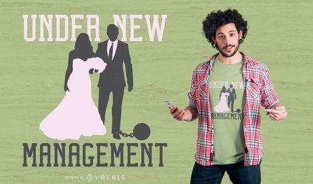Design de camiseta com citação de casamento