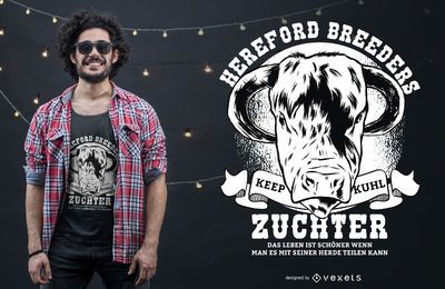 Design dos t-shirt dos criadores de Hereford