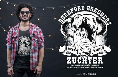 Diseño de camiseta Hereford Breeders