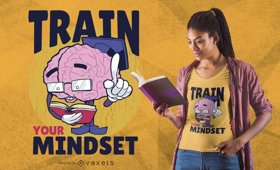 Train your mindset t-shirt design