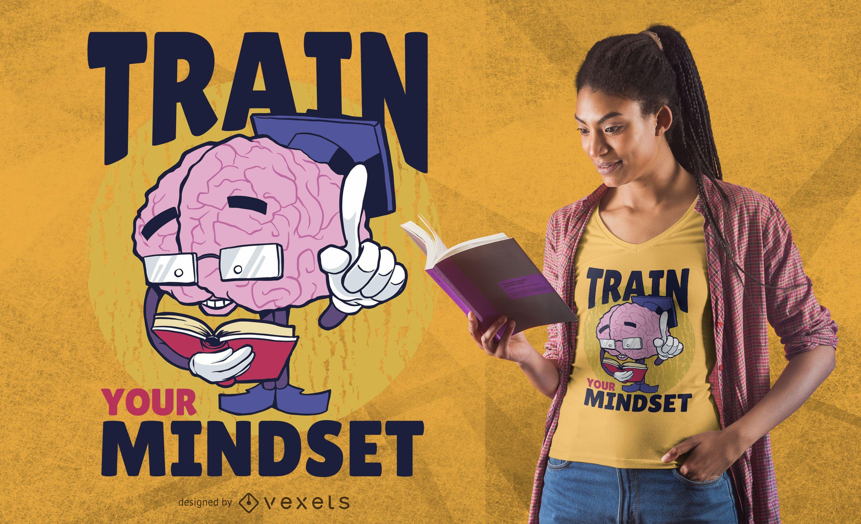 Entrena tu diseño de camiseta de mentalidad