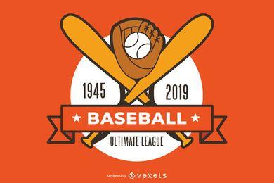 Diseño gráfico deportivo de béisbol