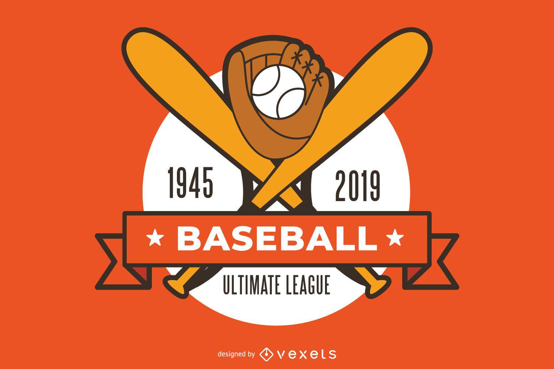 Baseball sport graphic design