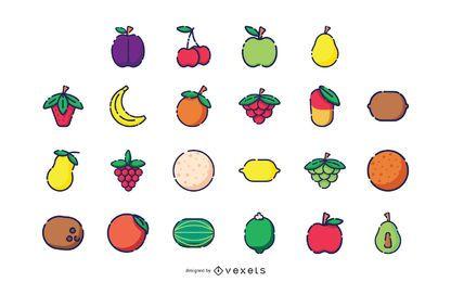 Coleção de ícone de fruta
