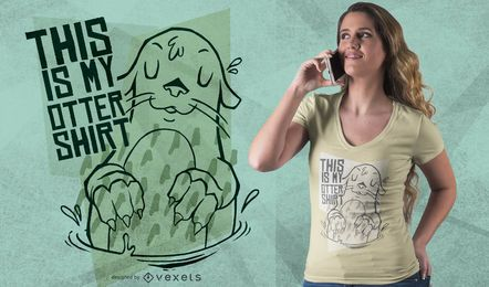 Meu design do t-shirt da lontra