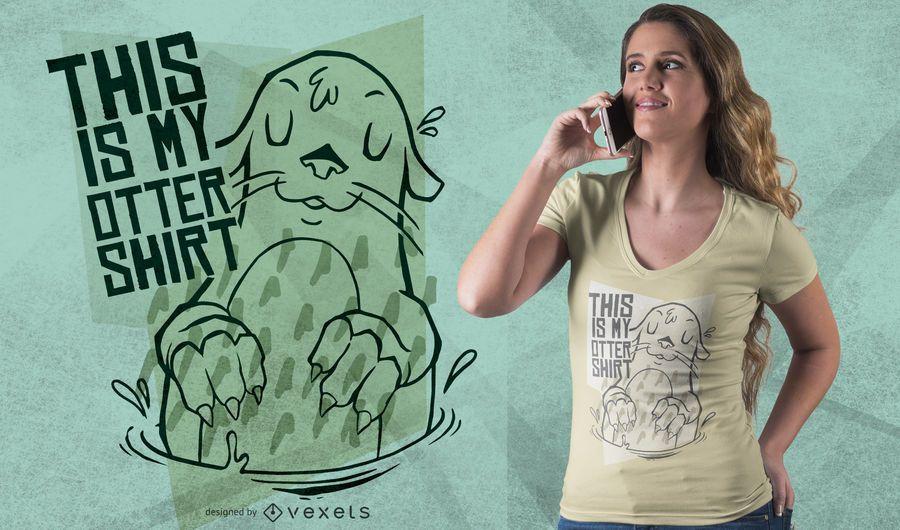 Diseño de camiseta de mi nutria.