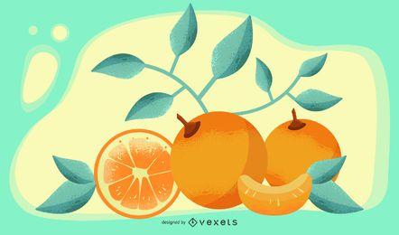 Banner de desenho artístico de vetor laranja