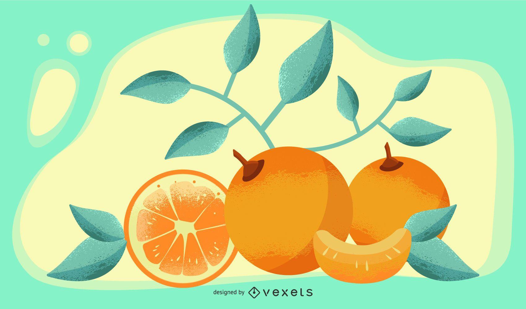 Orange Vector Artistic Design Banner