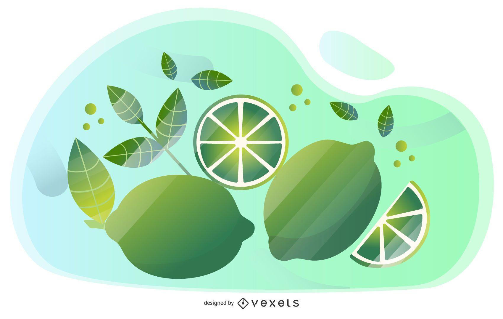 Lime vector artistic design