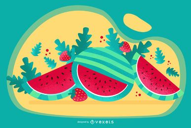 Watermelon Art Vector Design