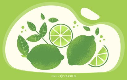 Lime green artistic illustration
