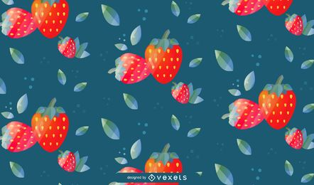 Diseño de fondo de patrón de fresa