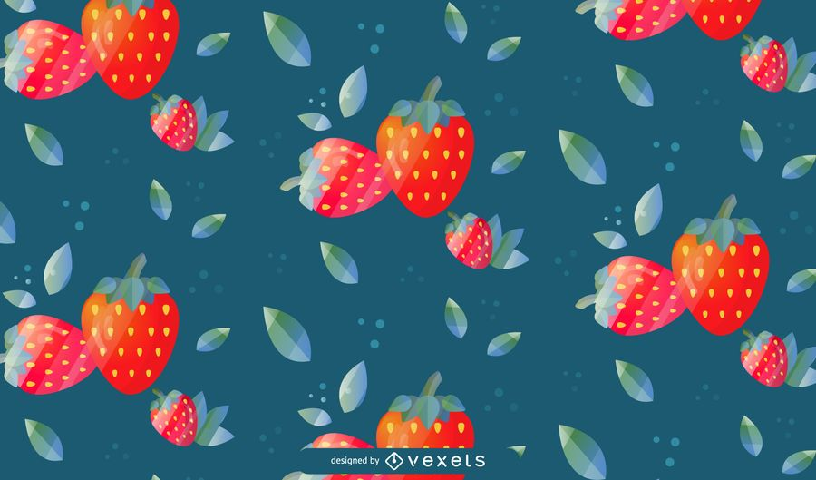 Strawberry Pattern Background Design