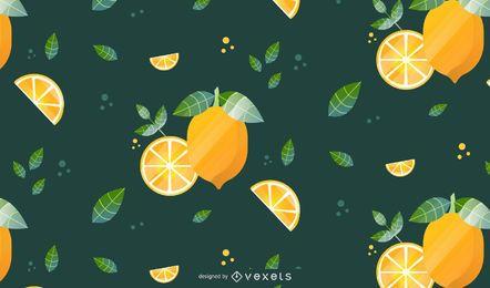 Diseño de fondo de patrón de limón