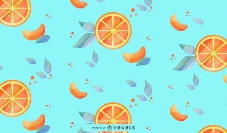 Diseño de fondo de patrón de fruta naranja