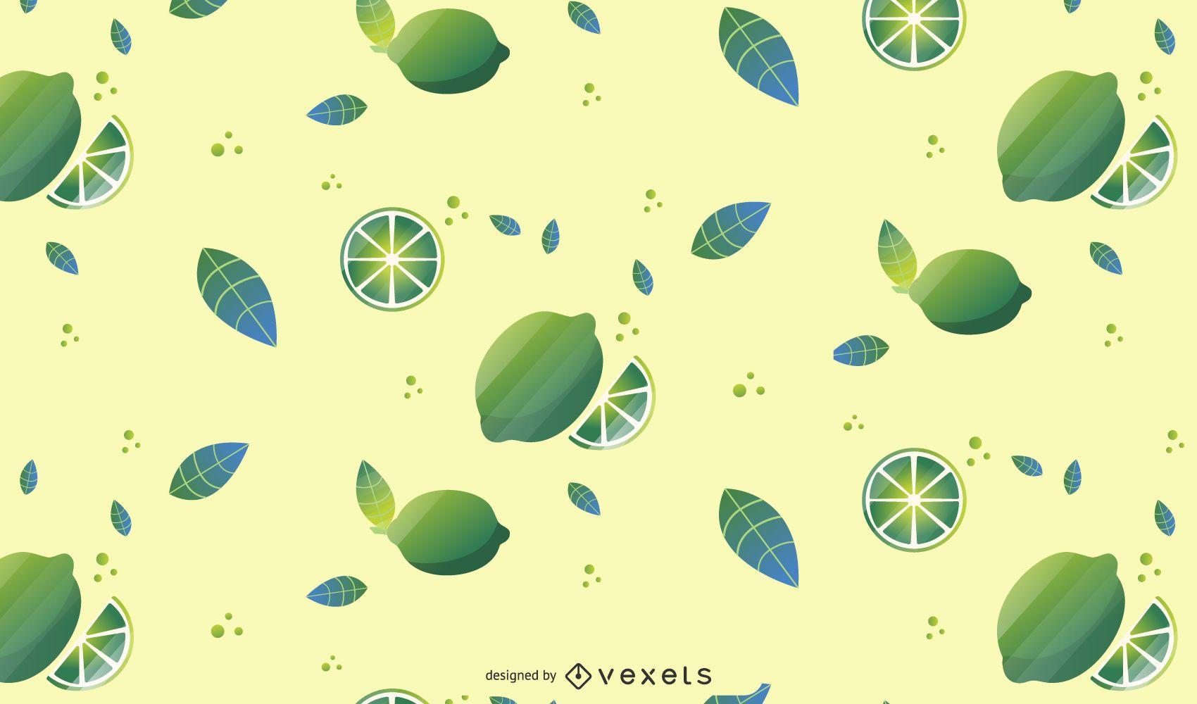 Lime Fruit Pattern Background Design